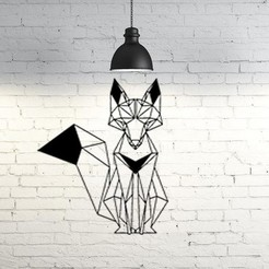 Imprimir en 3D Fox Wall Sculpture 2D, UnpredictableLab