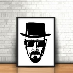 15.heisenberg [breaking bad].jpg Télécharger fichier STL Pitbull Face Sculpture murale 2D • Objet imprimable en 3D, UnpredictableLab