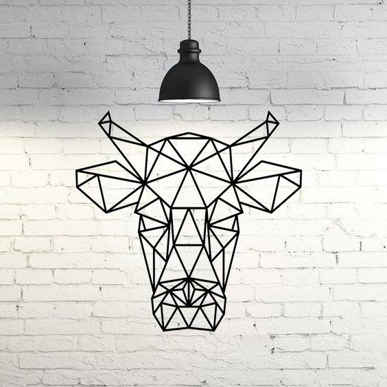 e23c9b2a7726e41983a69e421da588bf_display_large.jpg Download free STL file Bull Wall Sculpture 2D • 3D print model, UnpredictableLab