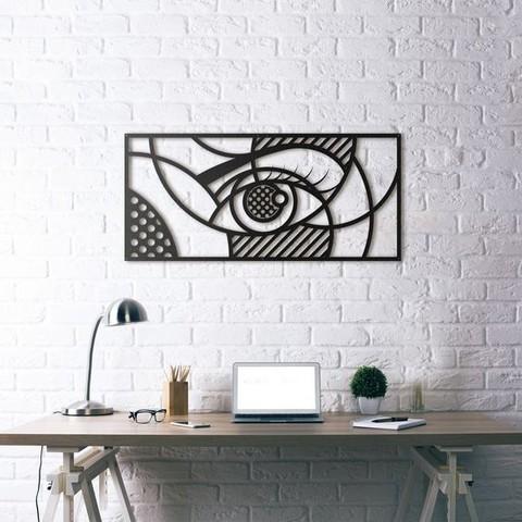 Download free 3D printing templates Eye Wall Sculpture 2D, UnpredictableLab