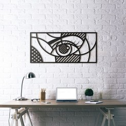 Free 3d model Eye Wall Sculpture 2D, UnpredictableLab