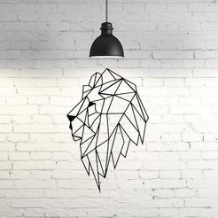 3D print files Lion IV wall sculpture 2D, UnpredictableLab
