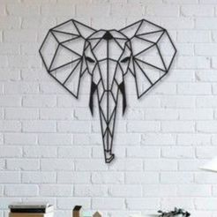 Free 3d print files Elephant Wall Sculpture 2D, UnpredictableLab