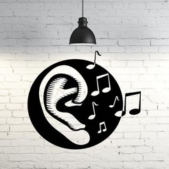 Download 3D printer model Music wall sculpture 2D, UnpredictableLab