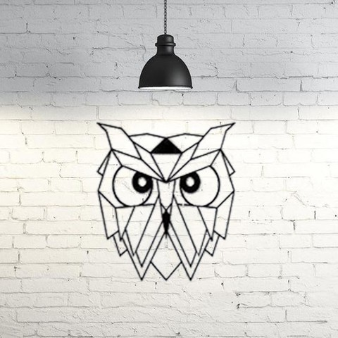 Impresiones 3D gratis Owl Wall Sculpture 2D, UnpredictableLab