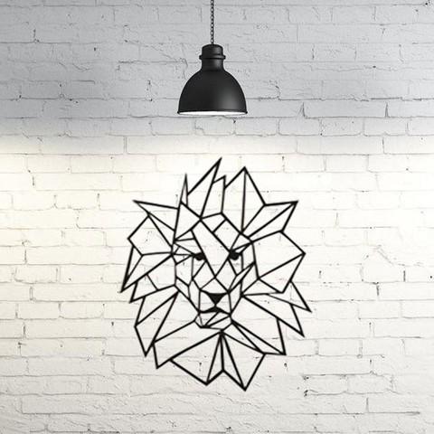 Fichier 3D Mur géométrique du lion 2D, UnpredictableLab