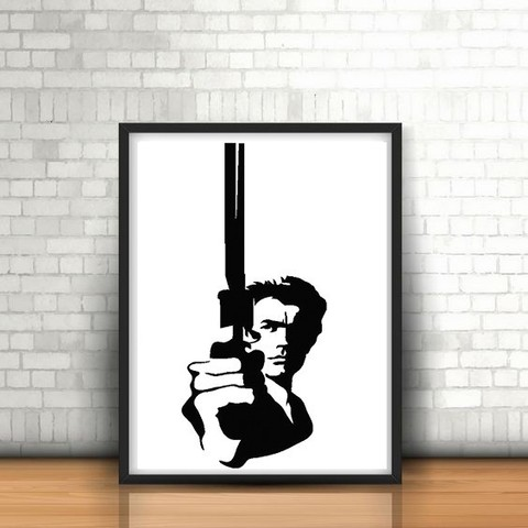 Download STL files Dirty Harry wall sculpture 2D, UnpredictableLab