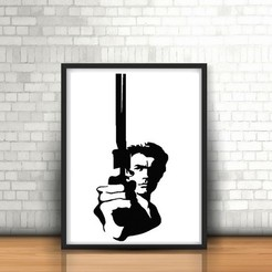 Download STL files Dirty Harry wall sculpture 2D, UnpredictableLab