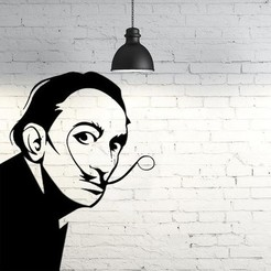 3D printing model Salvador Dali 2D wall sculpture, UnpredictableLab