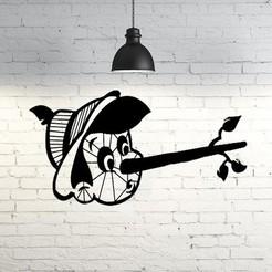Télécharger fichier impression 3D Pinocchio sculpture murale 2D, UnpredictableLab