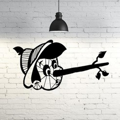 Diseños 3D Pinocchio wall sculpture 2D, UnpredictableLab