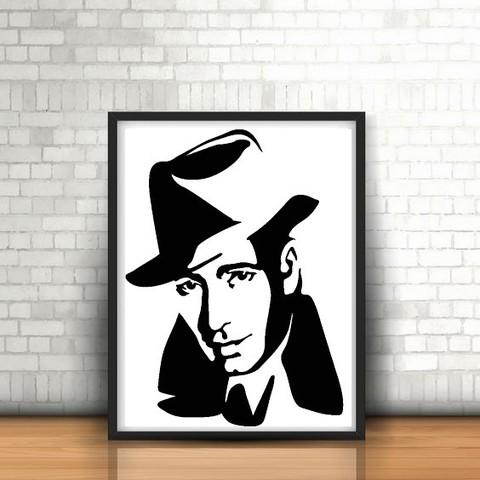 3D print files Humphrey Bogart Wall Sculpture 2D, UnpredictableLab