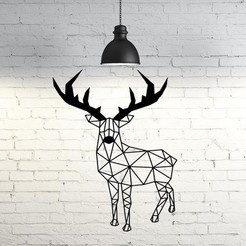 3D print model Deer wall sculpture 2D, UnpredictableLab