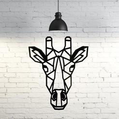 Download 3D printing files Giraffe Face Wall Sculpture 2D, UnpredictableLab