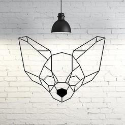 Impresiones 3D Chihuahua Dog Wall Sculpture 2D, UnpredictableLab