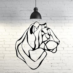 Descargar diseños 3D Tiger line art II Wall Sculpture 2D, UnpredictableLab
