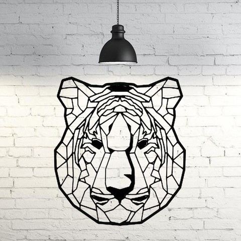 Download 3D print files Tiger II wall sculpture 2D, UnpredictableLab