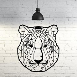 STL Tiger II wall sculpture 2D, UnpredictableLab