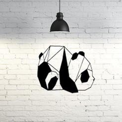 12.Panda.jpg Download free STL file Panda Wall Sculpture 2D • 3D print design, UnpredictableLab