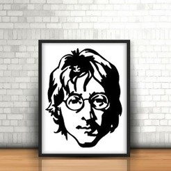 Free 3D print files John Lennon Wall Sculpture 2D, UnpredictableLab