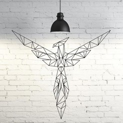 Download STL Fenix Wall Sculpture 2D, UnpredictableLab