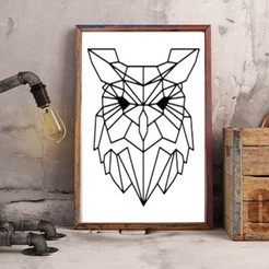 Free 3d printer designs Geometric Owl 2D, UnpredictableLab