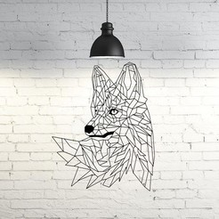 46.Wild Fox.jpg Download STL file Wild Foxy Wall Sculpture 2D • 3D print object, UnpredictableLab