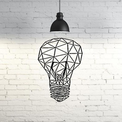 Imprimir en 3D gratis Light Bulb Wall Sculpture 2D, UnpredictableLab
