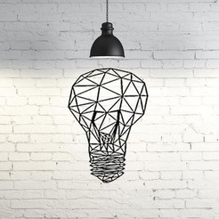 Free 3D printer model Light Bulb Wall Sculpture 2D, UnpredictableLab