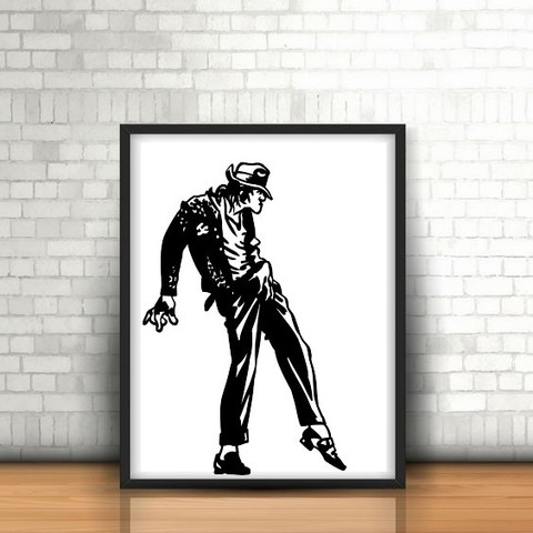 8.Michel jackson.jpg Download STL file Optical Illusion  2D III • 3D printable design, UnpredictableLab