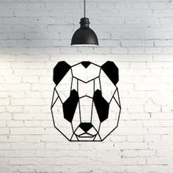 Free 3D model Panda face wall sculpture 2D, UnpredictableLab