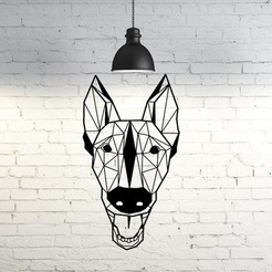 Free 3D model Trevor I Belgian Malinois dog wall sculpture 2D, UnpredictableLab