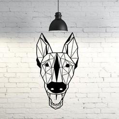 Télécharger fichier imprimante 3D gratuit Trevor I Sculpture murale de chien belge malinois 2D, UnpredictableLab