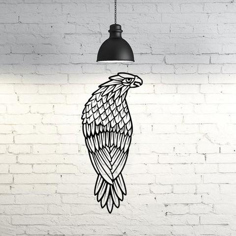 Fichier STL Sculpture murale de faucon 2D, UnpredictableLab