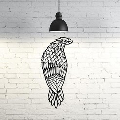 STL files Falcon wall sculpture 2D, UnpredictableLab
