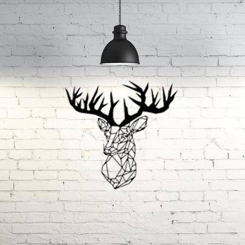 Plan imprimante 3D gatuit Sculpture murale de cerf 2D, UnpredictableLab