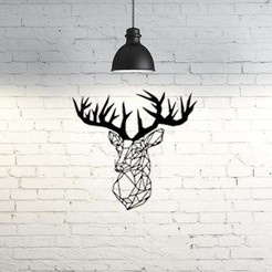 Descargar STL gratis Deer Wall Sculpture 2D, UnpredictableLab