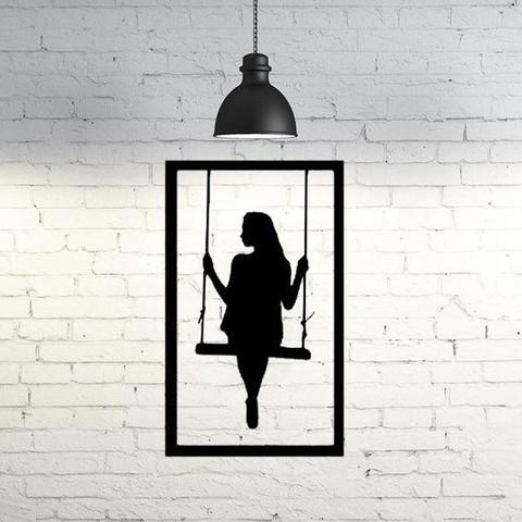 3D print files Girl frame wall sculpture 2D, UnpredictableLab