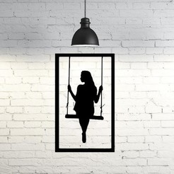 Descargar modelo 3D Girl frame wall sculpture 2D, UnpredictableLab