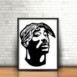STL Tupac Wall Sculpture 2D, UnpredictableLab