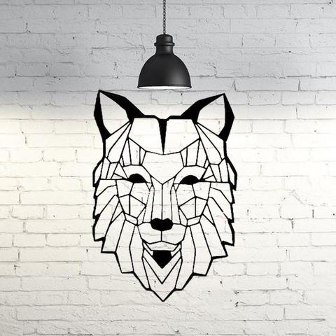 Modèle 3D Wolf VII Sculpture murale 2D, UnpredictableLab