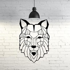 Download 3D printing designs Wolf VII Wall Sculpture 2D, UnpredictableLab