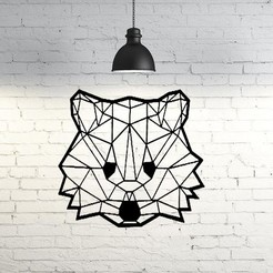 3D printer files Koala face wall sculpture 2D, UnpredictableLab