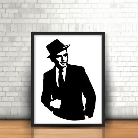 Download STL file Frank Sinatra Wall Sculpture 2D, UnpredictableLab