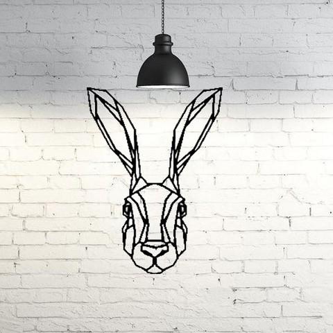 a2d7eb0105c6f8ebd9e361136f0d48d0_display_large.jpg Download free STL file Bunny Wall Sculpture 2D • 3D print design, UnpredictableLab