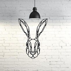 Download free STL file Bunny Wall Sculpture 2D, UnpredictableLab