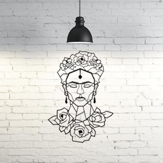 9.frida.jpg Download STL file Frida Kahlo Wall Sculpture 2D II • 3D printing template, UnpredictableLab