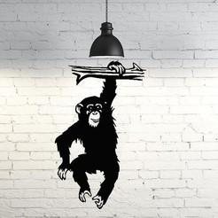 STL files Monkey wall sculpture 2D, UnpredictableLab