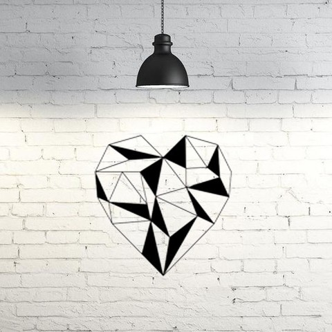 STL file heart wall sculpture 2D, UnpredictableLab