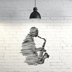 Modelos 3D gratis Jazzman Wall Sculpture 2D, UnpredictableLab